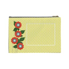 Cosmetic Bag (large)  Template Flowers By Jennyl   Cosmetic Bag (large)   Crc5mluyagc3   Www Artscow Com Back