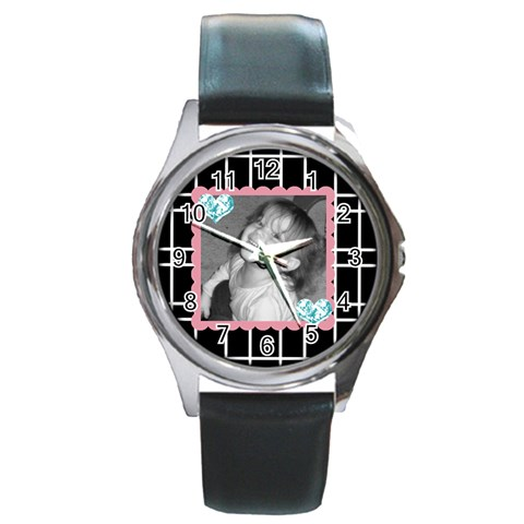 Round Watch 1 By Martha Meier   Round Metal Watch   Pkupww5kkkto   Www Artscow Com Front