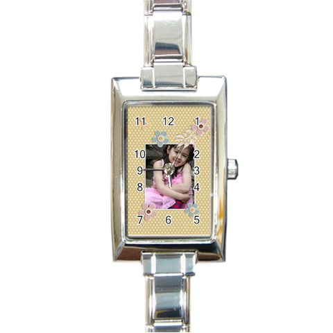 Italian Charm Watch   Bianca By Jennyl   Rectangle Italian Charm Watch   K0rkuym4oqsj   Www Artscow Com Front