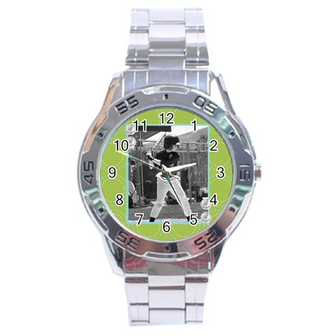 Men s Watch 4 By Martha Meier   Stainless Steel Analogue Watch   Q5tmq0o4uf51   Www Artscow Com Front