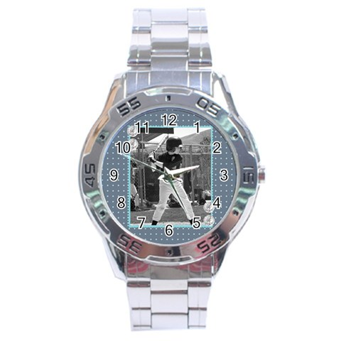 Men s Watch 6 By Martha Meier   Stainless Steel Analogue Watch   Rx5woptw2rqk   Www Artscow Com Front