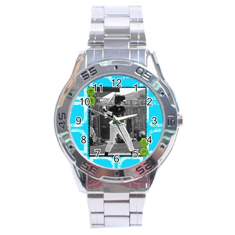 Men s Watch 8 By Martha Meier   Stainless Steel Analogue Watch   1rojov1ibjwr   Www Artscow Com Front