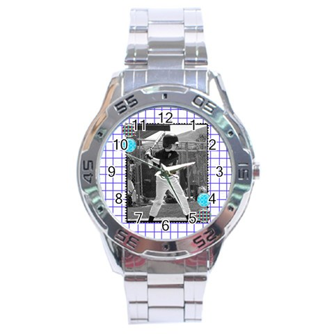 Men s Watch 10 By Martha Meier   Stainless Steel Analogue Watch   Pbaaowf0gwpj   Www Artscow Com Front