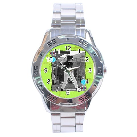 Men s Watch 11 By Martha Meier   Stainless Steel Analogue Watch   Lf6r2ytcshis   Www Artscow Com Front