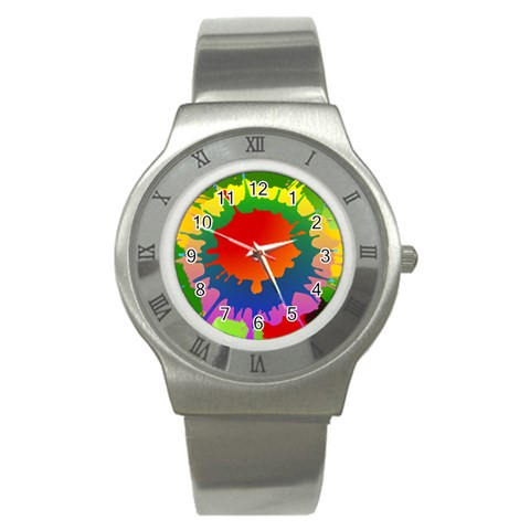 Splash Watch By Jorge   Stainless Steel Watch   Qb3xe9ksdvnq   Www Artscow Com Front