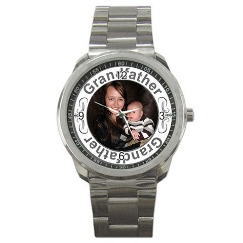 Grandfather Sport Metal Watch By Lil    Sport Metal Watch   Pgqrhwbmuamy   Www Artscow Com Front