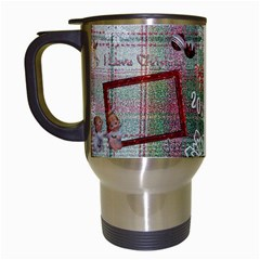 Old Fashioned Christmas Mug Angels Remember When Plaid By Ellan   Travel Mug (white)   6h5d7mluwzdc   Www Artscow Com Left