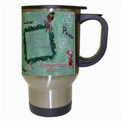 Old Fashioned Christmas Mug Angels Remember When Green Star By Ellan   Travel Mug (white)   5128ja3w0e81   Www Artscow Com Right