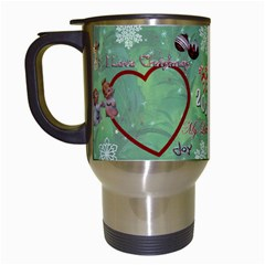 Old Fashioned Christmas Mug Angels Remember When Heart Star Snowflakes By Ellan   Travel Mug (white)   A1v97g54ebbc   Www Artscow Com Left