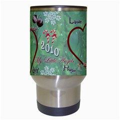 Old Fashioned Christmas Mug Angels Remember When Heart Star Snowflakes By Ellan   Travel Mug (white)   A1v97g54ebbc   Www Artscow Com Center