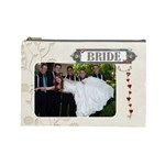 Bride/Groom Large Cosmetic Bag - Cosmetic Bag (Large)