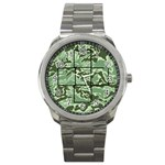 green camo mini frame watch - Sport Metal Watch