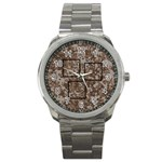 desert camo mini frame watch - Sport Metal Watch