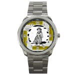 safari stainless steel watch watch - Sport Metal Watch