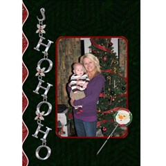Ho Ho Ho Chrome Christmas Card By Lil    Greeting Card 5  X 7    Bv7scbosq72x   Www Artscow Com Front Cover
