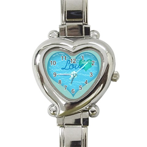Watch By Courtney Adkins   Heart Italian Charm Watch   Scyugc4i5h9r   Www Artscow Com Front
