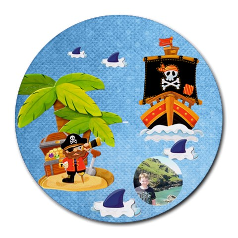 Pirate Pete Round Mousemat By Catvinnat   Round Mousepad   9lnot7ls1age   Www Artscow Com Front