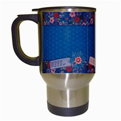 Snow Angel Travel Mug By Mikki   Travel Mug (white)   Vmm9ift3adau   Www Artscow Com Left