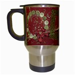 Holiday Wreath Travel Mug - Travel Mug (White)