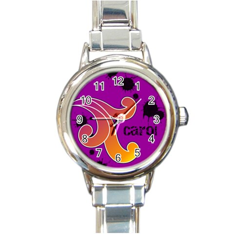 Funky Alley Watch 01 By Carol   Round Italian Charm Watch   23bimo44rh12   Www Artscow Com Front