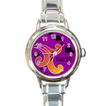 funky alley watch 01 - Round Italian Charm Watch
