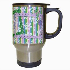 Fun Flowers Travel Mug By Mikki   Travel Mug (white)   6tsqezvb9sbm   Www Artscow Com Right