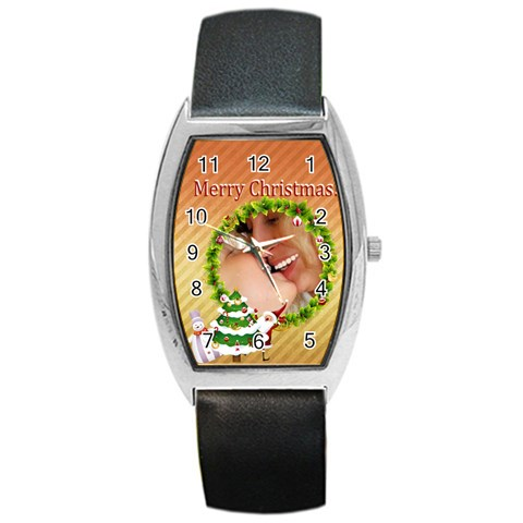 Xmas By Wood Johnson   Barrel Style Metal Watch   I6043r7fumaa   Www Artscow Com Front