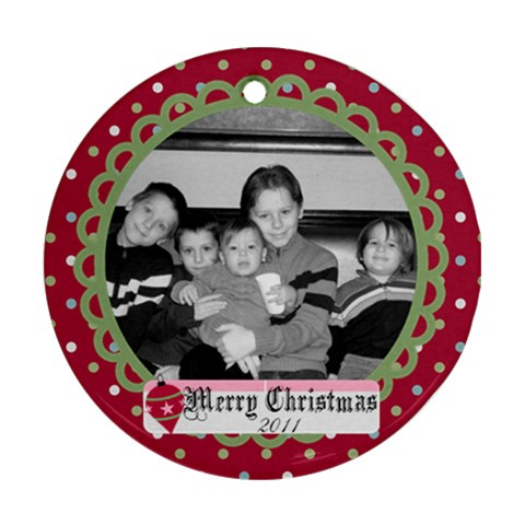 Circle Christmas Ornament By Martha Meier   Ornament (round)   Wk4wcyx2evmk   Www Artscow Com Front