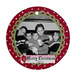 Circle Christmas Ornament - Ornament (Round)
