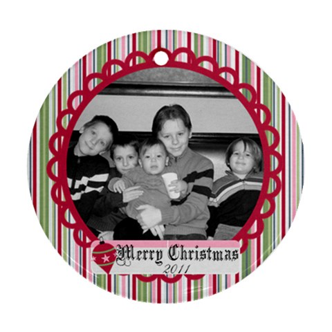 Circle Christmas Ornament 2 By Martha Meier   Ornament (round)   Hic5s4u7oiva   Www Artscow Com Front