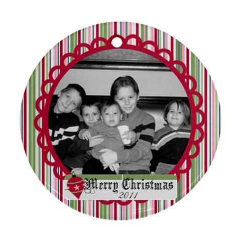 Circle Christmas Ornament 3 By Martha Meier   Ornament (round)   Oejs97ew71tl   Www Artscow Com Front