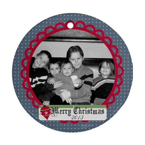 Circle Christmas Ornament 4 By Martha Meier   Ornament (round)   N2uwcxvtaq6w   Www Artscow Com Front