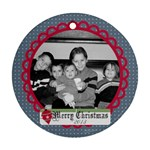 Circle Christmas Ornament 4 - Ornament (Round)