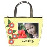 Bucket Bag- template- flowers