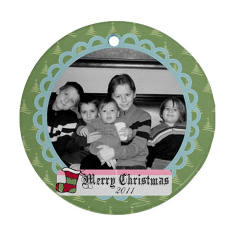 Circle Christmas Ornament 6 By Martha Meier   Ornament (round)   Nxkc5nfi6pdx   Www Artscow Com Front