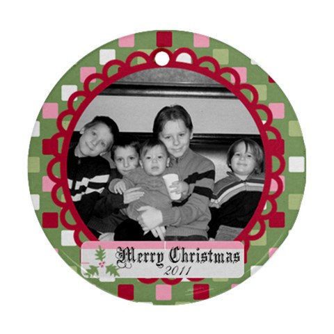 Circle Christmas Ornament 8 By Martha Meier   Ornament (round)   2d13c1exa3ms   Www Artscow Com Front