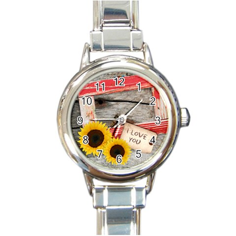 Cowboy´s Party Watch 01 By Carol   Round Italian Charm Watch   W0wo4ybtr07v   Www Artscow Com Front
