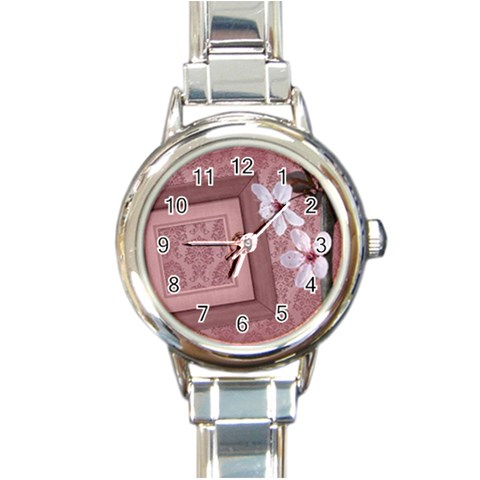 Love Watch 01 By Carol   Round Italian Charm Watch   Yttwvzebnj9a   Www Artscow Com Front