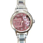Love watch 01 - Round Italian Charm Watch