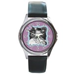Purple Haze watch - Round Metal Watch