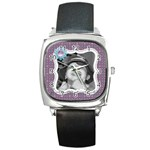 Purple Haze Watch 3 - Square Metal Watch