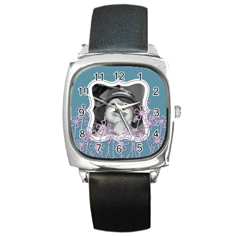 Purple Haze Watch 4 By Martha Meier   Square Metal Watch   Iae82ojggar2   Www Artscow Com Front