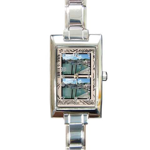 Fantasia Classic Twin Frame Charm Watch By Catvinnat   Rectangle Italian Charm Watch   Wjjsa5jvhy6y   Www Artscow Com Front