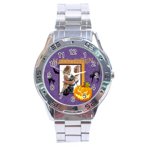 Halloween By Joely   Stainless Steel Analogue Watch   Atroqtdn0plp   Www Artscow Com Front