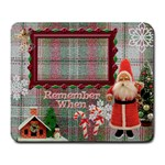 Vintage Christmas Santa large mousepad