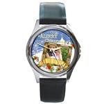 xmas - Round Metal Watch