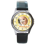 baby music - Round Metal Watch