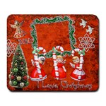 Christmas Candy Cane angels large mousepad