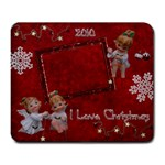 Christmas angels with stars large mousepad