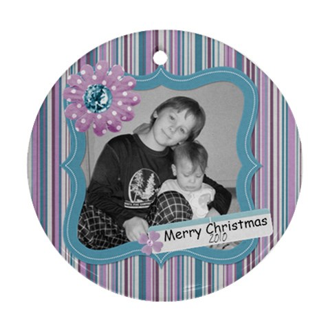Purple Haze Ornament 1 By Martha Meier   Ornament (round)   8k86flmh9vmd   Www Artscow Com Front